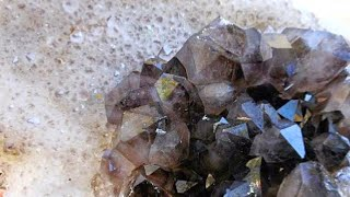 Smoky Quartz Pocket Crystal Mining @ Diamond Hill Mine