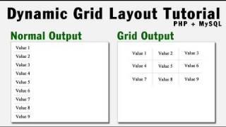 Dynamic Grid Output Programming Tutorial Using PHP + MySQL Array Data
