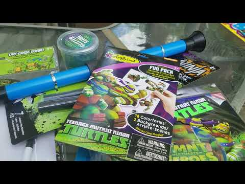 Dollar Tree Haul - Ninja Turtle Birthday Gift & Donations For Teacher