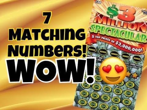 HUGE WIN!!! $30 $3 Million Spectacular Pennsylvania Lottery Scratch Off Ticket