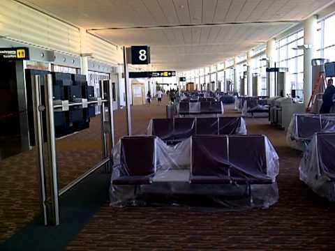 Domestic Departure Lounge at New Winnipeg International Airport (YWG) Terminal