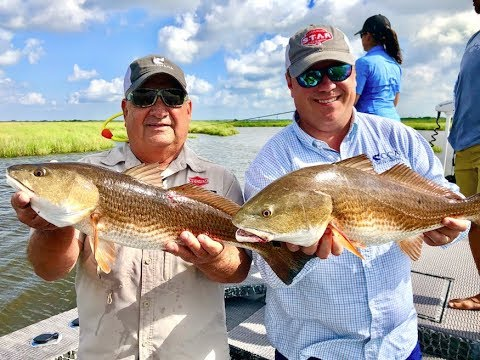 Tagging Reds, Take Dad Fishing, And Redfish On The Halfshell