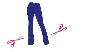 Stretch Jeans Hose in 10 min kürzen, einfach abschneiden. DIY Anleitung