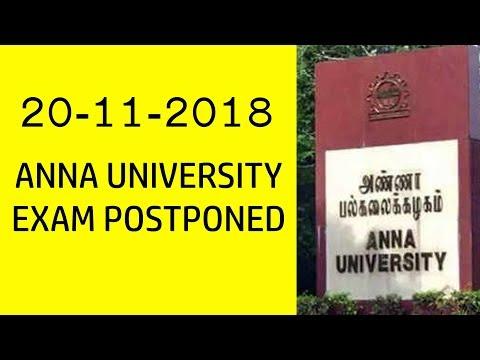 ANNA UNIVERSITY EXAM POSTPONED | 20-11-2018