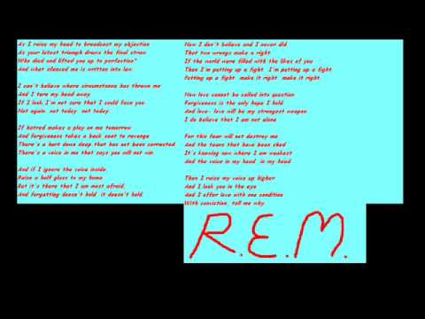 REM - Final Straw (lyrics)