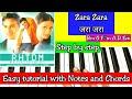 Zara Zara Behekta Hai | Easy Piano Tutorial with Notations and Chords | Step by step | RHTDM