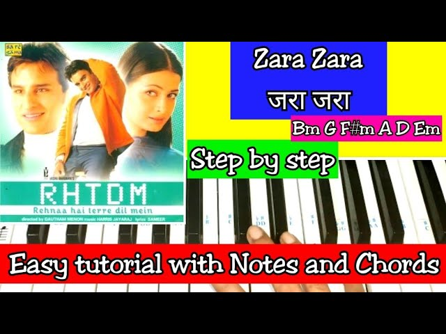 Zara Zara Behekta Hai | Easy Piano Tutorial with Notations