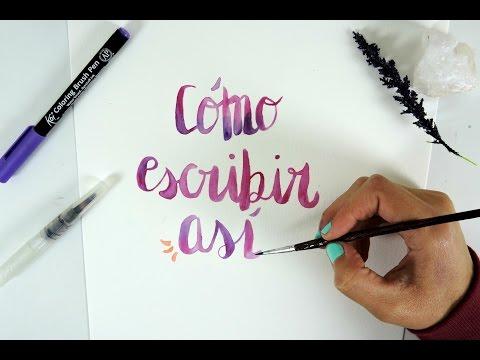 Letra bonita | Lettering súper fácil de hacer | Tipografía fácil.