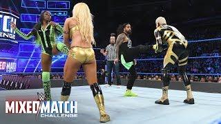 """RoseGold"" answer Jimmy & Naomi's double ""marital"" enziguiri with a double powerslam on WWE MMC"