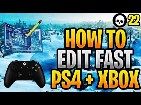 How To Edit FASTER On Console/Controller Fortnite! (Fortnite PS4 + Xbox Editing Tips)