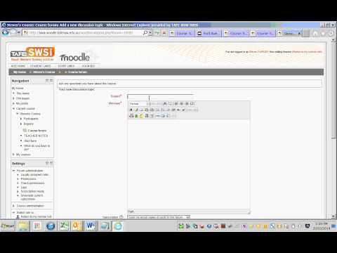 Demoing Moodle TinyMCE Editor 'HTML Templates' And 'Font Awesome' Icons (Moodle 2.4 To 2.6)
