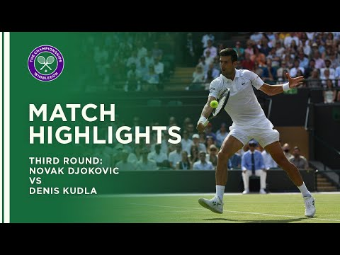 Novak Djokovic vs Denis Kudla | Third Round Highlights | Wimbledon 2021