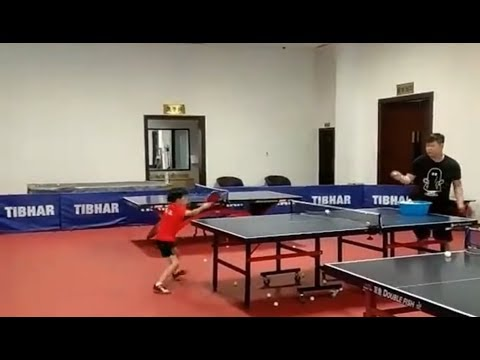 Fast serves by Chinese ping-pong playing teens!