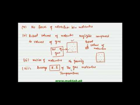 FSc Chemistry Book1, CH 3, LEC 8: Kinetic theory