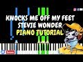 Knocks Me Off My Feet Stevie Wonder Transcribed Piano Tutorial Sheetmusic Midi mp3
