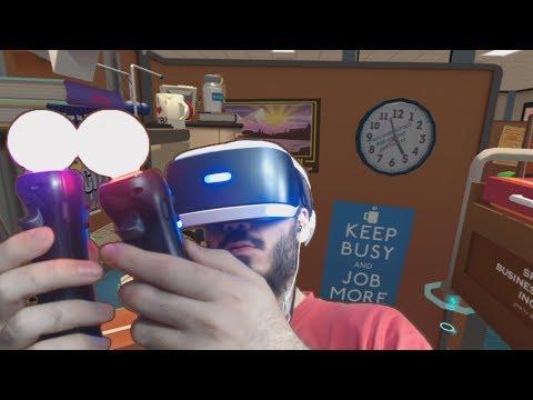 PlayStation VR Demo | Job Simulator Fail | Trabajar en el trabajo
