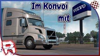 Lets Play Live [American Truck Simulator] #008 Im Konvoi mit Volvo Treffpunk: Las Vegas