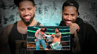 The Usos rewatch Wyatt Family war from Money in the Bank 2014: WWE Playback