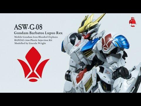How to Airbrush Gunpla Paint the Gundam Barbatos Lupus Rex with Lincoln Wright