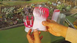 일회용 컵으로 다육이 화분 만드는법 ; 테이크아웃 컵화…