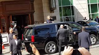 Paul McCartney leaving hotel in Santiago Chile 2019