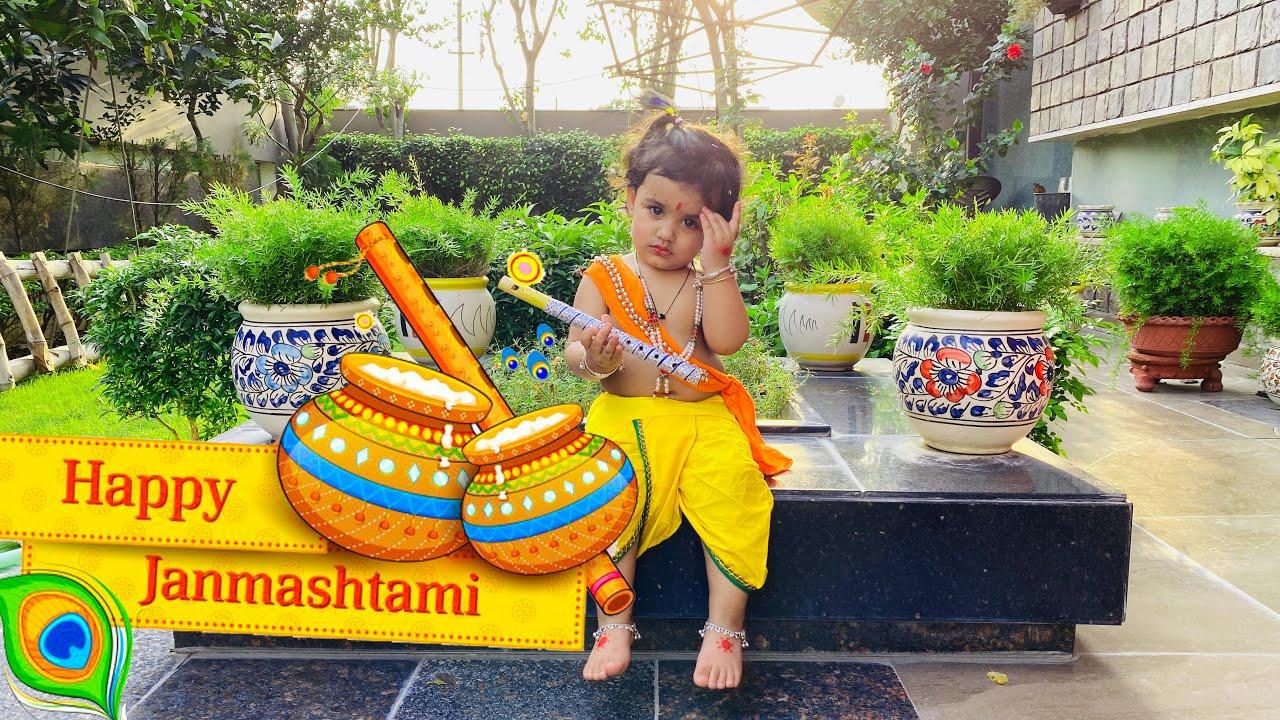 She looks so cute as Krishna | That Couple Though | Vlog