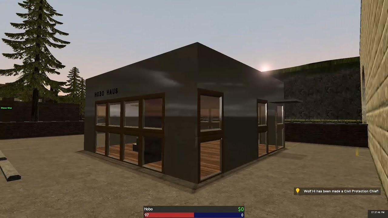 Garrys Mod DarkRP Building a Timelapse 12 Modern Hobo House