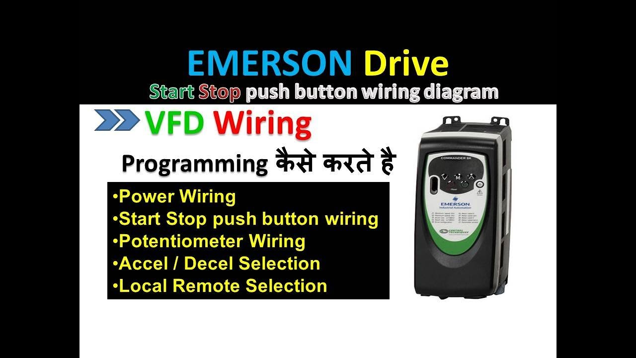 emerson control techniques commander sk drive parameters in hindi on