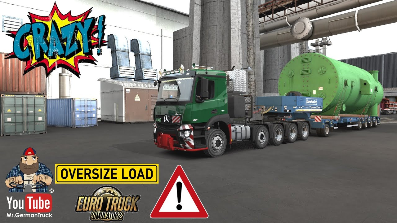 [ETS2 v1.36] Mercedes Antos 10×6 Heavy Truck + ALL DLC´s ready
