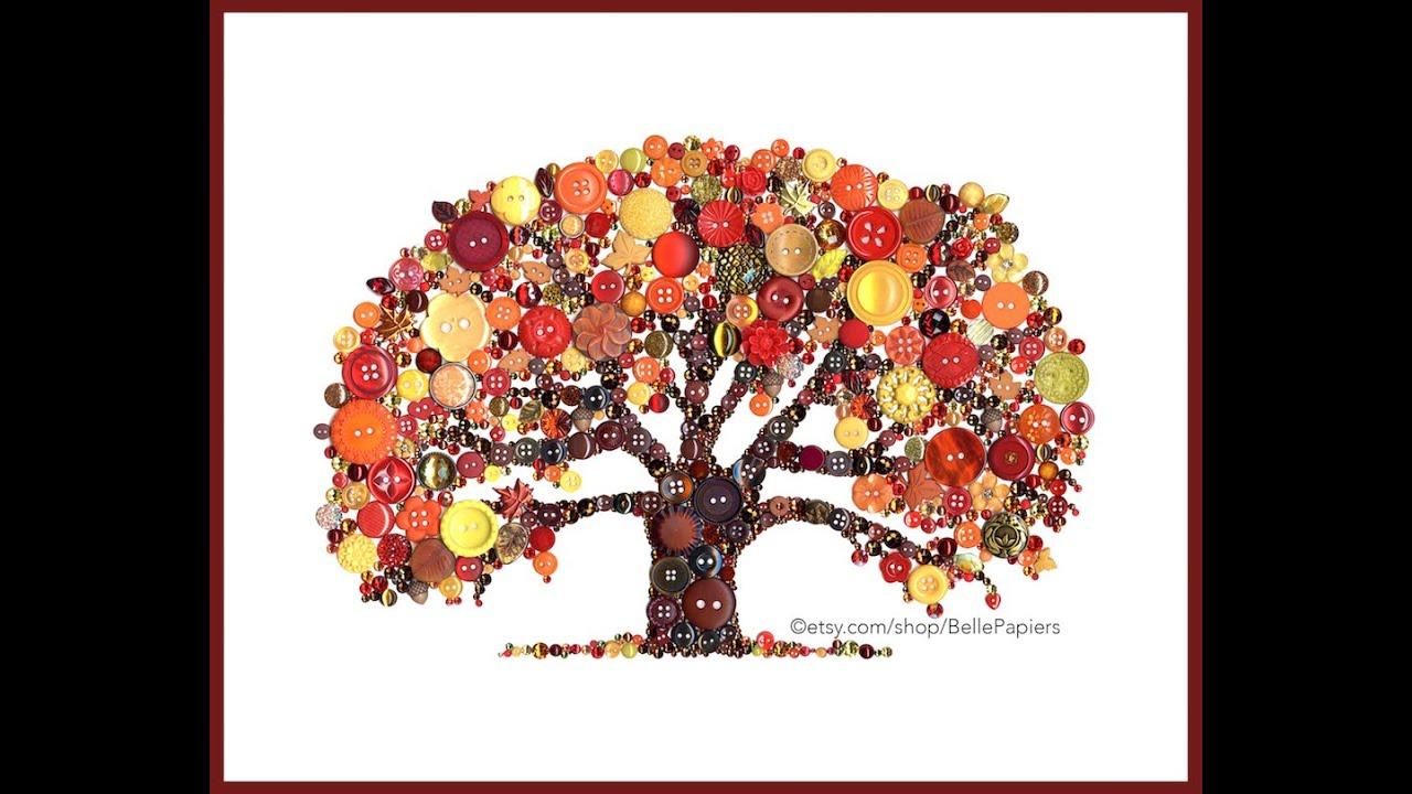 Button Trees Art
