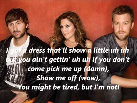 Lady Antebellum Downtown with Lyrics