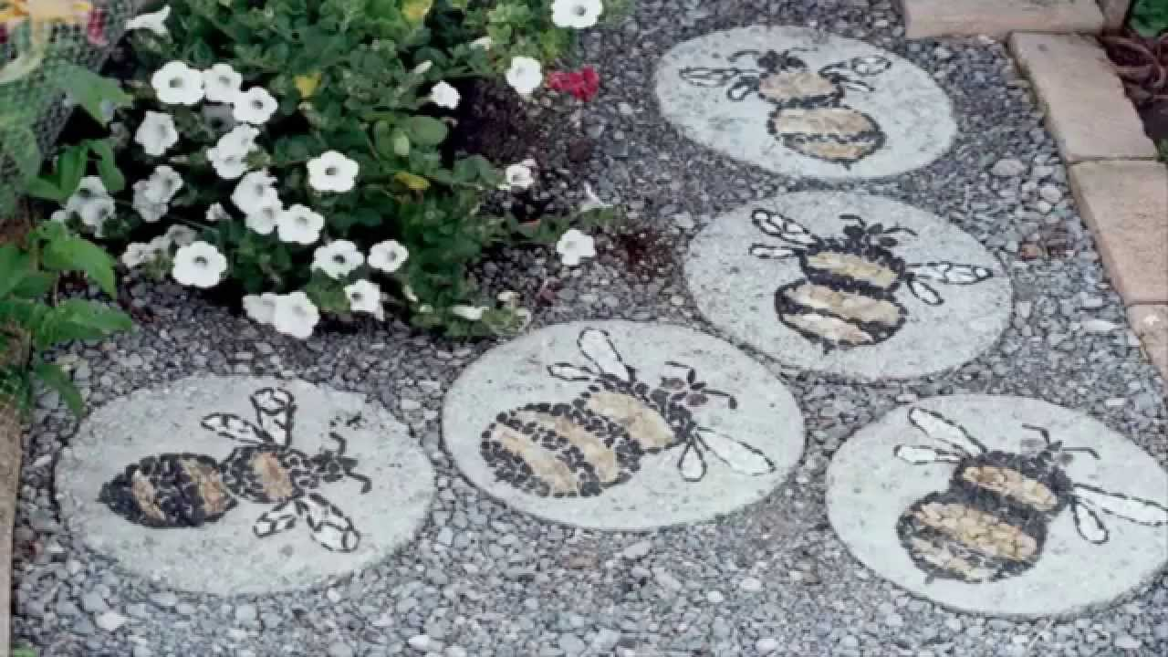 Garden Ideas *Stepping Stone Ideas* - YouTube on Stepping Stone Patio Ideas  id=67650