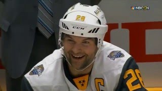 NHL All Star MVP John Scott - 2 goals & big hit