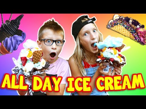 ALL DAY (literally!!!) Ice Cream Challenge!!!