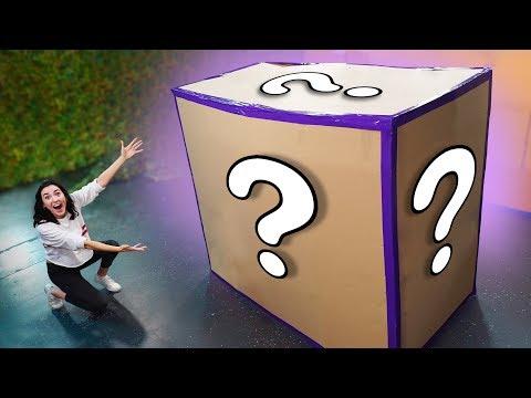 NERF *GIANT* Mystery Box Challenge!
