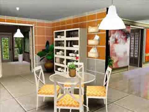 Casa semi moderna creando casas los sims 3 youtube for Casa moderna sims 3 sin expansiones