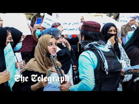 Taliban fire shots to disperse anti-Taliban and anti-Pakistan protesters in Kabul