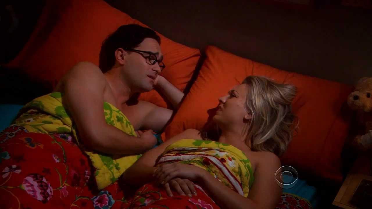 Big bang theory kissing scenes