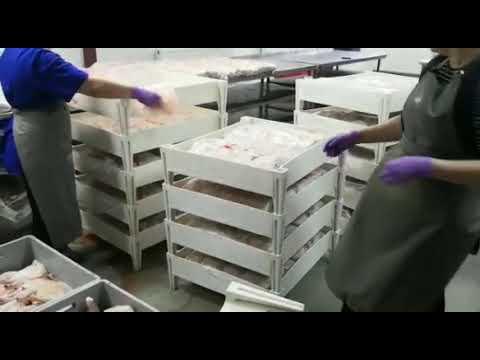 Ящики штабелируемые для хранения замороженного мяса