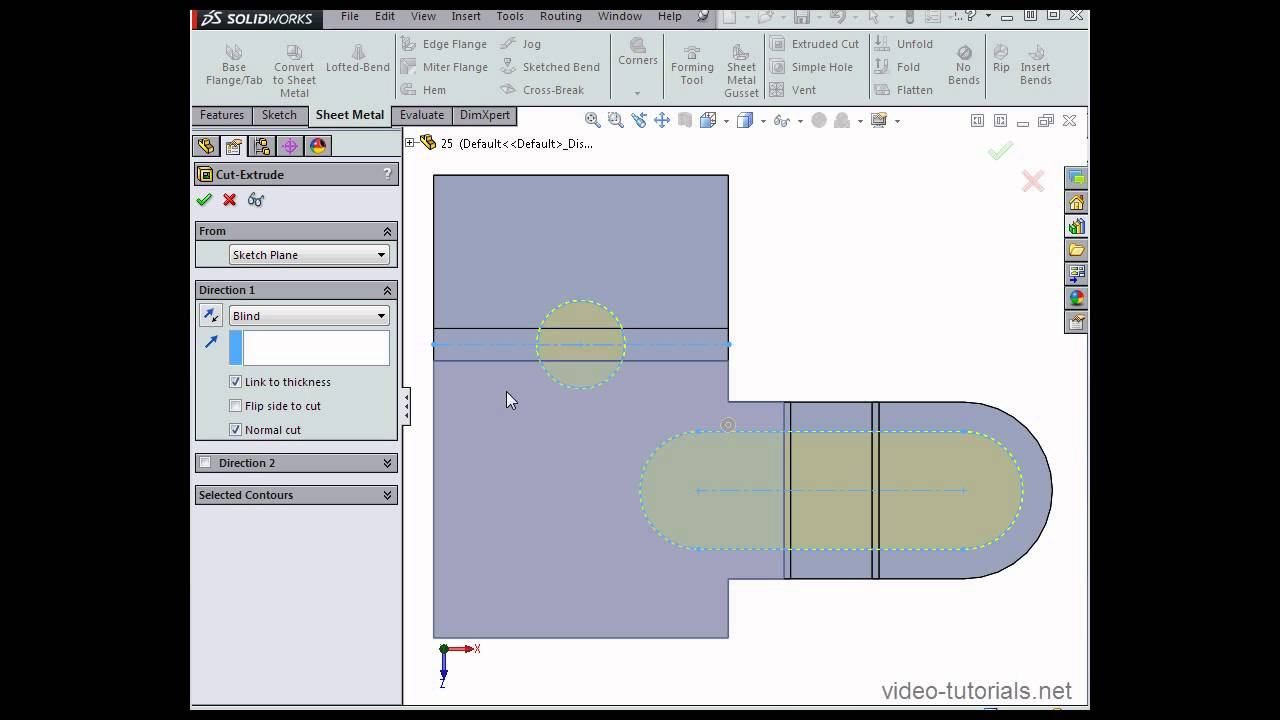 How To Fold And Unfold Sheet Metal Parts Solidworks