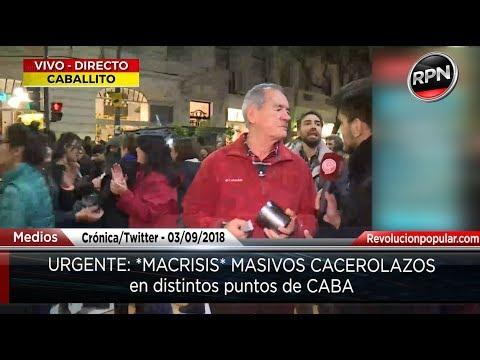 #Macrisis Reloj de arena para Macri, cacerolazos en Buenos Aires