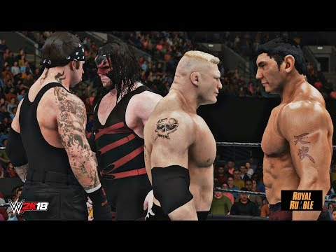 WWE 2K18: Brock Lesnar wins the Royal Rumble 2003! (feat. Retro Lesnar, Undertaker & Batista Mods)