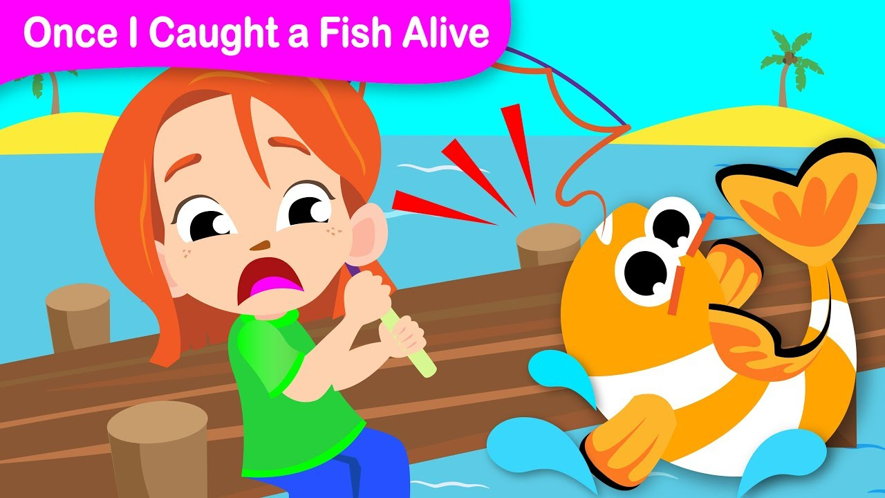 Resultado de imagen de caught a fish alive kids song