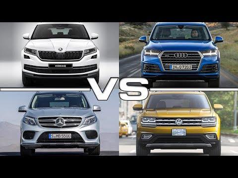 Skoda Kodiaq vs Audi Q7 vs Mercedes GLE vs Volkswagen Atlas