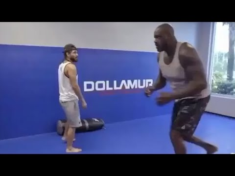Jorge Masvidal Teaches Shaquille O'Neal A Lesson In Power