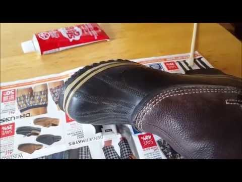 How to repair/fix your boot with Shoe Goo and the result#savemoney