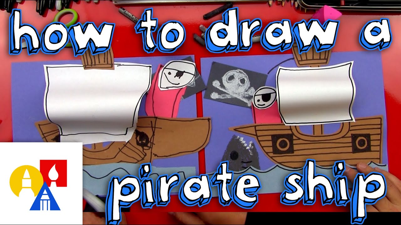how to draw a pirate ship youtube