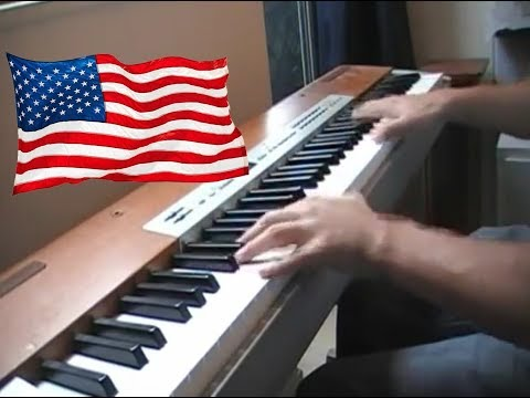 When Johnny Comes Marching Home piano (Sheet+lyrics) (Die Hard 3 Bank music)