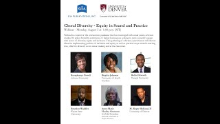 Choral diversity: Equity in sound and practice