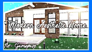 ROBLOX | Bloxburg: No-Gamepass Modern Aesthetic Home ♡